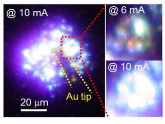 Light Emission from LED_GaN on Graphene